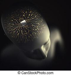 Artificial Intelligence Brain Microprocessor
