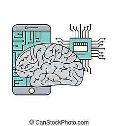 artificial intelligence brain smartphone circuit