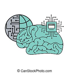 artificial intelligence brain world motherboard circuit
