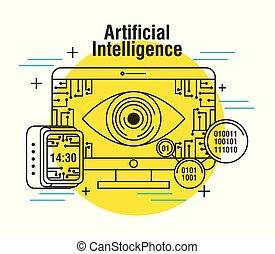 artificial intelligence computer monitor clock digital