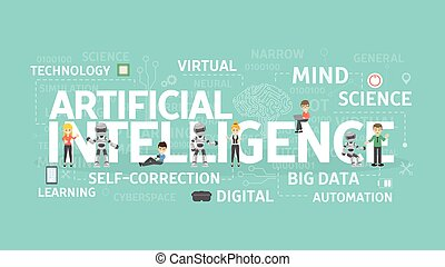 Artificial intelligence concept. - Artificial intelligence...