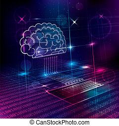 Artificial intelligence concept design. Abstract technology background.