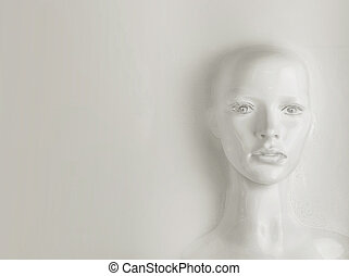 Artificial intelligence concept - human being - Artificial...