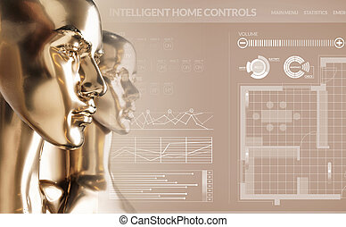 Artificial intelligence concept - smart home