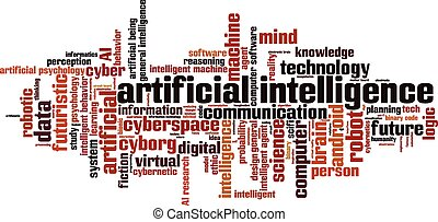 Artificial intelligence word cloud concept. Vector illustration