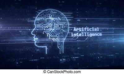 Artificial intelligence hologram