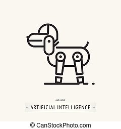 artificial intelligence icon design. - artificial ...
