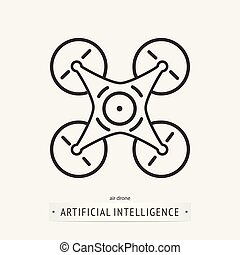 artificial intelligence icon design.