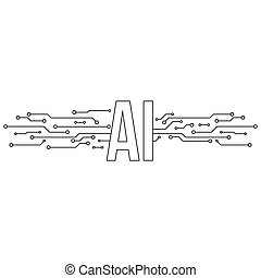 Artificial Intelligence Icon. Vector illustration with ...