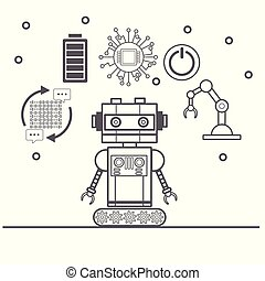 Artificial intelligence icons