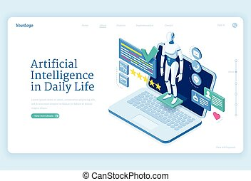Artificial intelligence in daily life banner