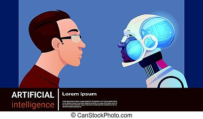 Artificial Intelligence Man With Modern Robot Brain Technology