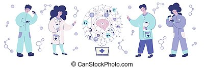 Artificial intelligence medicinevector. Concept of the AI ...