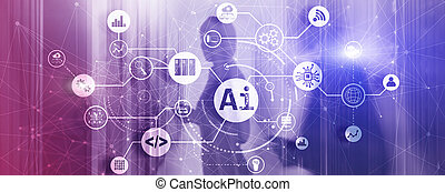 Artificial Intelligence Mixed Media Technology concept 2021