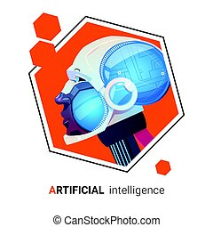 Artificial Intelligence Modern Robot Brain Technology
