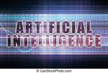 Artificial Intelligence on a Tech Business Chart Art