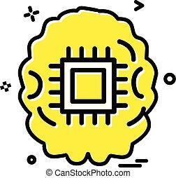 Artificial  intelligence robot icon vector design