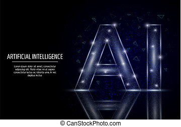 Artificial intelligence vector geometric polygonal art style design