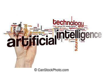 Artificial intelligence word cloud concept