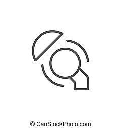 artificial, línea, coyuntura, contorno, icono