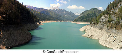 artificial lake in the mountains of Friuli