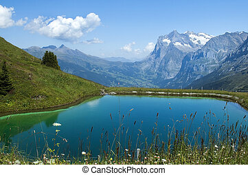 lake in the Swiss Alps