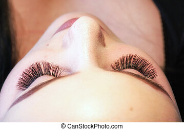 Artificial lashes. Eyelash extension - Artificial 4D lashes....