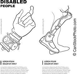 artificial limb - Artificial limb. Hand and foot. Template...