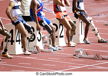 Artificial Limbs (Prosthetics) - Image of disabled athletes...