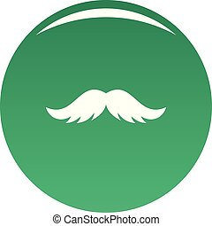 Artificial mustache icon vector green