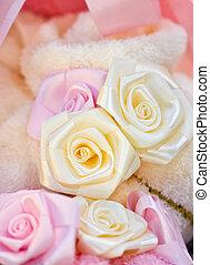Artificial Ribbon Roses.