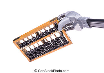 artificial robot hand with abacus