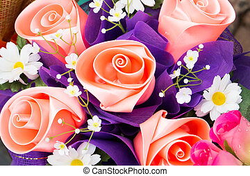 Artificial Roses from ribbin