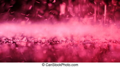 Artificial snow on the floor 4k - Close-up of artificial ...