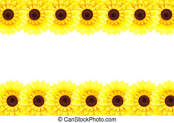 Artificial sunflower border
