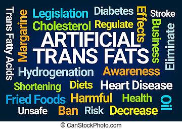 Artificial Trans Fats Word Cloud