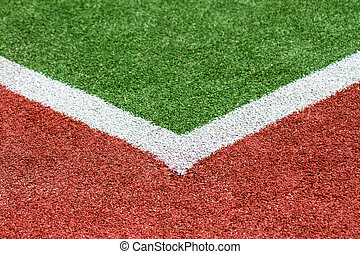 Artificial Turf corner - An Artificial Turf sportsfield...