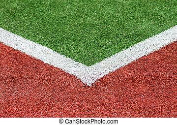 Artificial Turf corner - An Artificial Turf sportsfield...