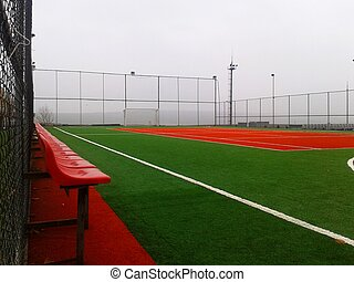 Artificial turf football field - A photo of artificial turf...