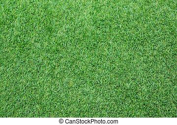 Artificial turf grass field top view