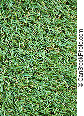 Artificial turf - Plan view of artificial turf on the floor.