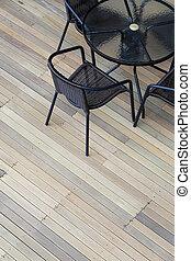 artificial wood deck
