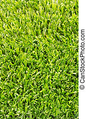artificiale, campo, grass., sfondo verde, calcio