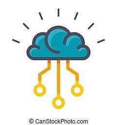 artificiale, icona, intelligenza, vettore