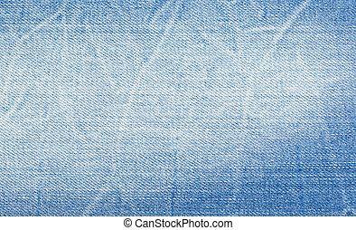 artificially aged denim, close-up - artificially aged blue...
