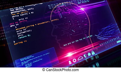 artificiel, écran, intelligence