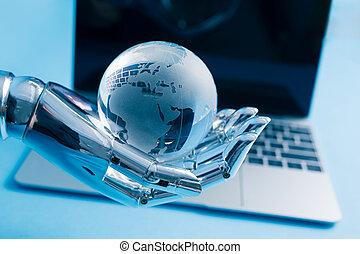 artificiel, concept, intelligence, global