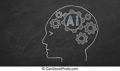 artificiel, concept, intelligence