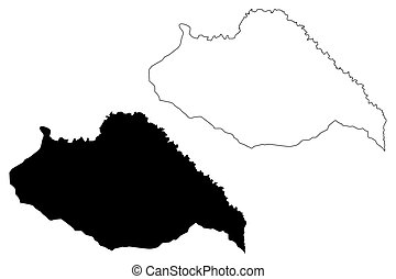 Artigas Department (Departments of Uruguay, Oriental Republic of Uruguay) map vector illustration, scribble sketch Artigas map