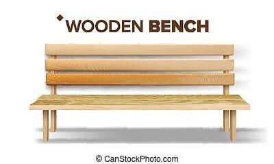 artigianato, classico, panca legno, vettore, disegno